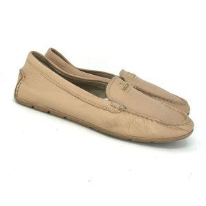 Coach Womens A00925 Brown Flats Loafers Size 9